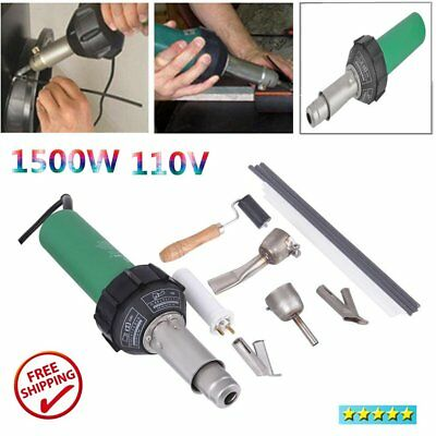 1500W Hot Air Torch Plastic Welding Gun Welder Pistol Speed Nozzle & Roller SE