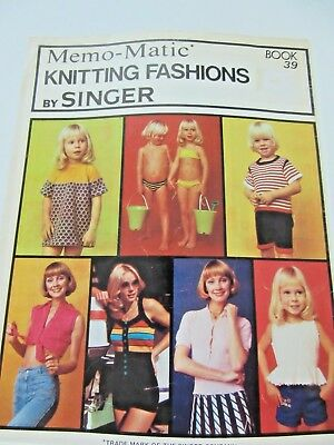 SINGER Memo-Matic Knitting Machine PATTERN BOOK # 39 -Tops,Togs, Lace top/ blous