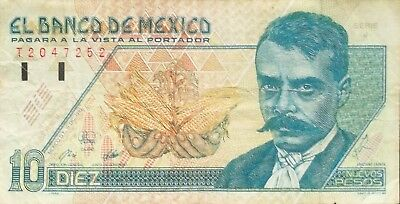 Mexico 1992 10 Nuevos Pesos  #p-99 World Paper Money