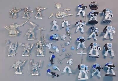 Warhammer 40k - HUGE LOT - Ultramarines 22x + MANY Misc Pieces - Metal & Plastic