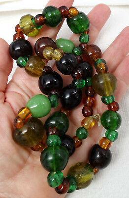 Antique African Ancient Glass Trade Bead Necklace