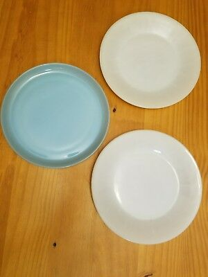 7 white bowls, 2 white plates, 1Turquoise; Fire King, Federal, Anchor Hocking