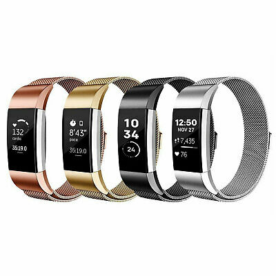 Milanese stainless steel wrist band For Fit-bit Charge 2 Smart fitness trackers