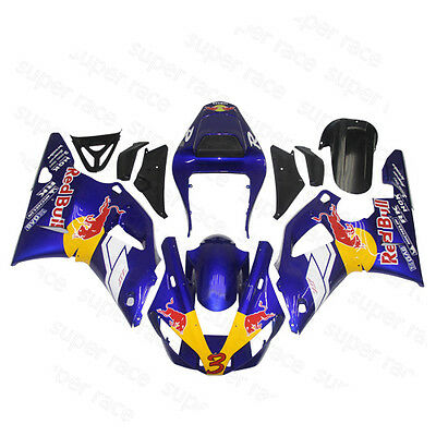 Hot  ABS Blue/White Fairing Bodywork Injection Kits For 2000-2001 Yamaha YZF R1