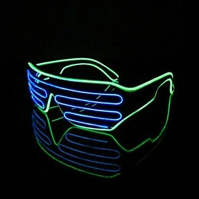 Halloween Glasses Light Up Shades Flashing Rave Festival Party Glow LED dance