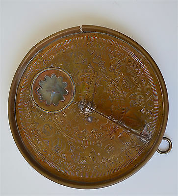 ANTIQUE RARE Brass PERSIAN ASTROLABE ASTRONOMY TRAVEL INSTRUMENT Very Good Cond
