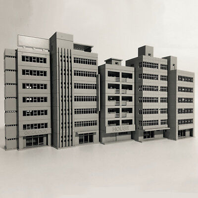 Outland Building Model N Scale Gauge 1/150 Scene Modern House FOR GUNDAM Gifts
