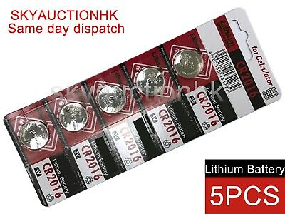 5x CR2016 NEW 3V cell coin button battery Japan Ed 12-2027