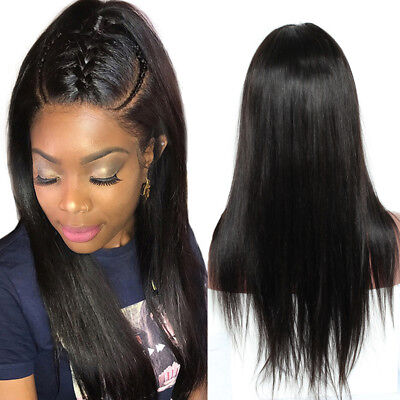 Perruques lace wig naturel bresilienne cheveux humains black straight front wigs