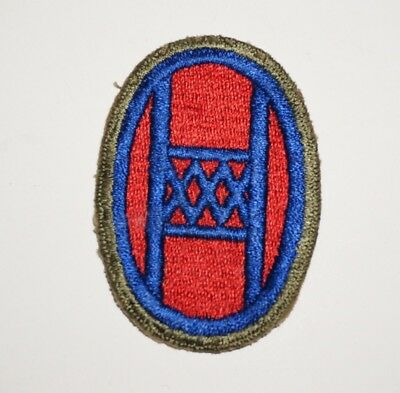 30th Infantry Division OD Border White Back Patch WWII US Army P5938