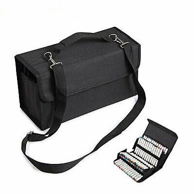 80 Slots Marker Pen Storage Case Carrying Bag Holder Organizer For Touch Copic