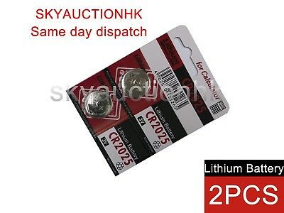 2x CR2025 NEW 3V cell coin button battery Japan Ed 12-2027