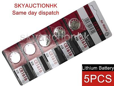 5x CR1616 NEW 3V cell coin button battery Japan Ed 12-2027