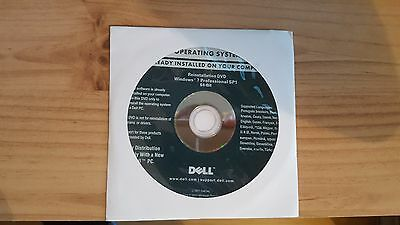 NEW Dell Windows 7 Professional 64bit SP1 Recovery Restore Disc New Sealed + RAM