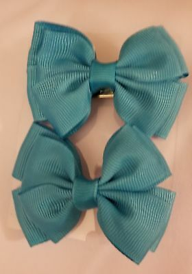 Light Blue Small Bows (Pair)