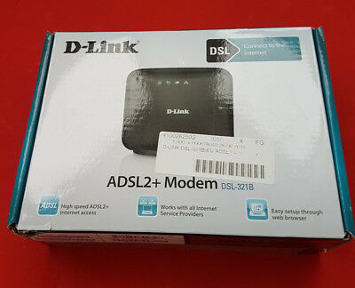 D-Link ADSL2+ Modem DSL-321B Works with all Internet Service Providers
