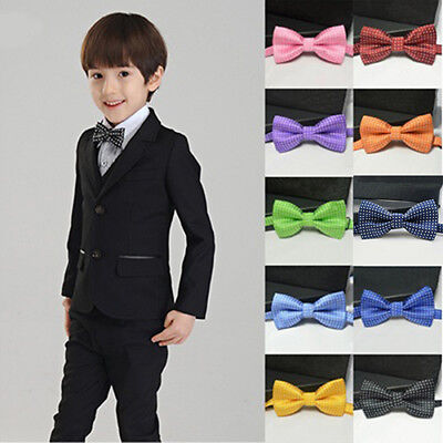 Cute Boys Girls Child Kids Polka Dots Bow Tie Formal Party Wedding Bowtie Ornate