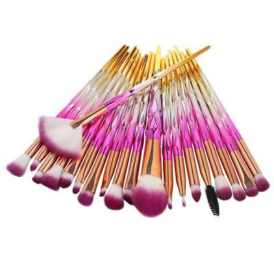20pcs Unicorn Diamond Make up brushes Cosmetic Makeup Brush Contour Tools Kit uk