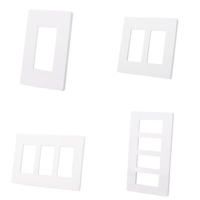 5/10Pack 1 2 3 4 Gang Screwless Decorator GFCI Outlet Wall Plate Switch Cover