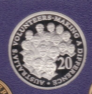 2003 20 Cent PROOF Coin Making A Difference Australia Volunteers ex Set