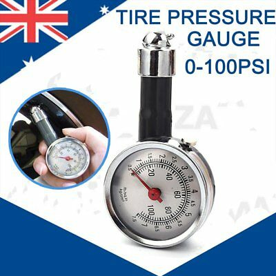 Car Motorcycle Tire Tyre Air Pressure Gauge Deflators Dial Meter Teater 0-100PSI
