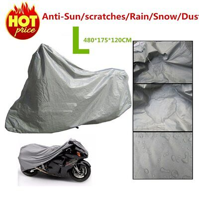 L Waterproof Motorcycle Cover Sheet Motorbike Moped Scooter Rain Large Size FK