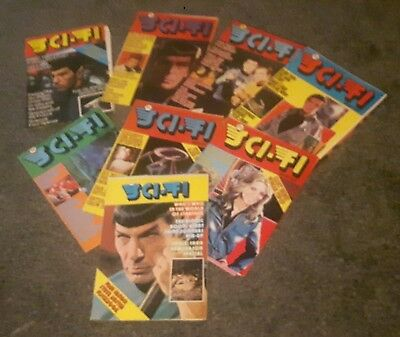 TV  Sci-Fi Monthly issues Nos 1 to 8