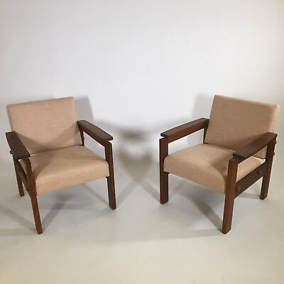 Paire de fauteuils - pair of armchairs - teak scandinave danish vintage design