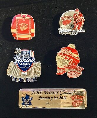 Detroit Red Wings NHL Ice Hockey Winter Classic Limited Edition 5 Pin Set