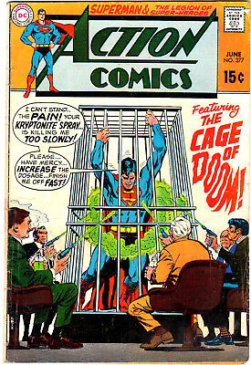 Action Comics (1938) #377 First Print Kryptonite Spray Cage of Doom Legion