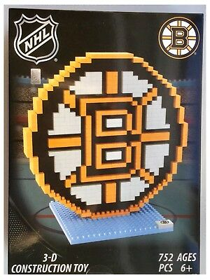 Boston Bruins NHL Ice Hockey 3D Logo BRXLZ Brick Construction Set Puzzle