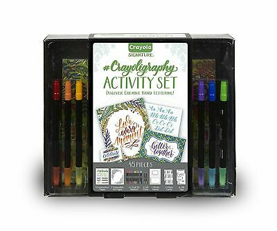 Crayola Signature Crayoligraphy Calligraphy Art Set,Hand Lettering Tutorial Kit