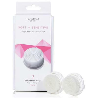 Magnitone Soft And Sensitive Replacement Brush Head With Skinkind (Set of 2)