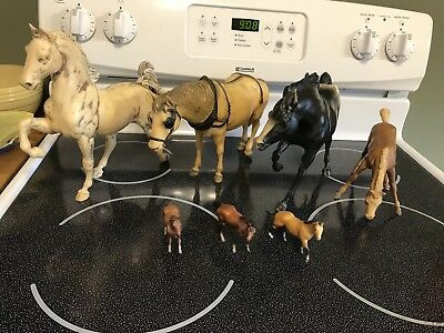 Vintage Breyer Horses Lot of 8. 5 Large and 3 small ones.