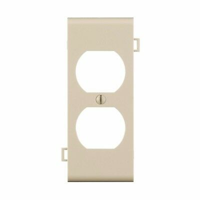 Leviton Single Gang Sectional Center Duplex Outlet Nylon Light Almond Wall Plate