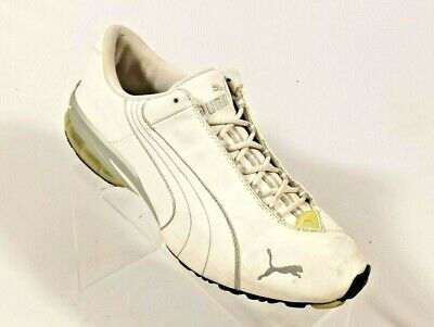 b2941bc0b6 Puma White Leather Athletic Casual Fashion Sneakers Shoes Men's 7.5M (Inv  ...