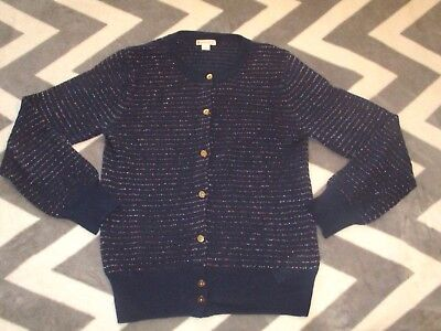 Crewcuts J Crew Girls Shimmer Sweater Top Holiday Party School 12 10 Multi Strip