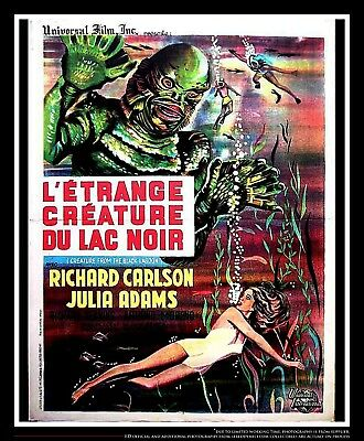 """CREATURE OF THE BLACK LAGOON 24"""" x 32"""" French Moyenne Movie Poster Original 1954"""