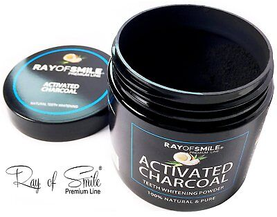 Activated Charcoal Coconut 100% Natural & Pure Teeth Whitening Powder 60g