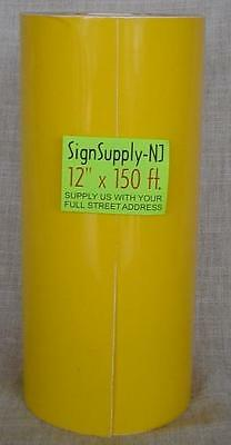 "12"" x 50 yd YELLOW Sign Vinyl Cutter PLOTTER GRAPHICS"