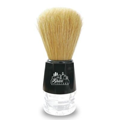 Shave Factory Pure Boar Bristle Shaving Brush by Omega Small Size Black Colour