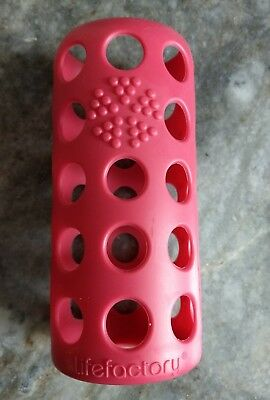 Lifefactory 9oz Bottle Silicone Sleeve, pink, made in USA