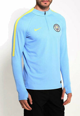 Nike Manchester City 16/17 Men's Squad Drill 1/4 Zip Training Top Blue New XL