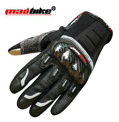 Carbon Fiber Protective Motorcycle Sports MTB Cycling Bicycle Touchscreen Gloves