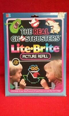 Vintage 1984 Lite Brite The Real Ghostbusters Picture Refill 12 Pictures Sealed