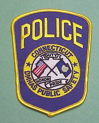 Connecticut   Ct  Dept. Of Mental Health  Police Patch   Free Shipping!!!