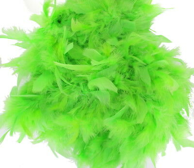 Light Green Feather Boa Great For Themed Fancy Dress