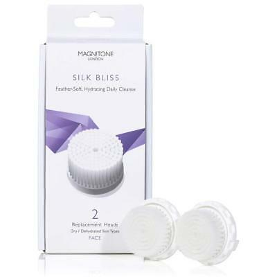 Magnitone Silk Bliss Replacement Brush Heads With Skinkind Bristles (Set of 2)