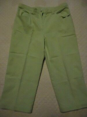 Womens 12 Christopher & Banks Green Stretch Cropped Capri Pants