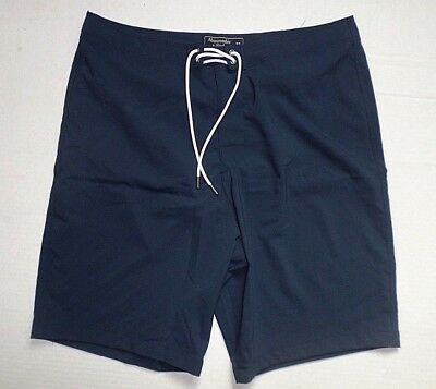 NWT Abercrombie & Fitch Mens Size 32 Navy Classic Fit Swim Board Shorts NEW